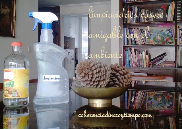 Limpiavidrios casero amigable con el ambiente