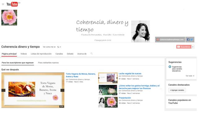 www.coherenciadineroytiempo.com en Yotube