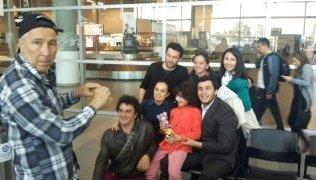 Con la familia y mi mejor amiga