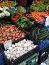 Verduras que ofrecen el el mercado.
