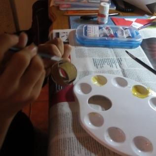 La nena pintando
