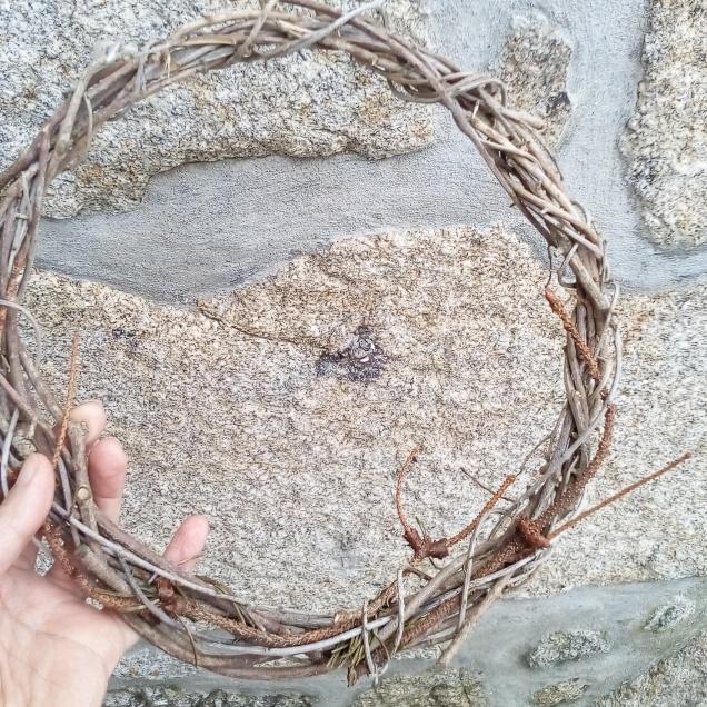 La corona con ramas de olivo